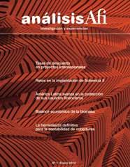 Análisis Afi, Nº 1, enero 2012